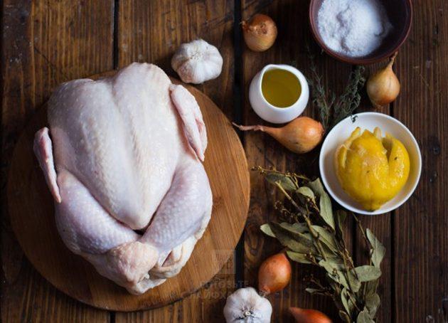 Курица в духовке с лимоном: подготовьте ингредиенты