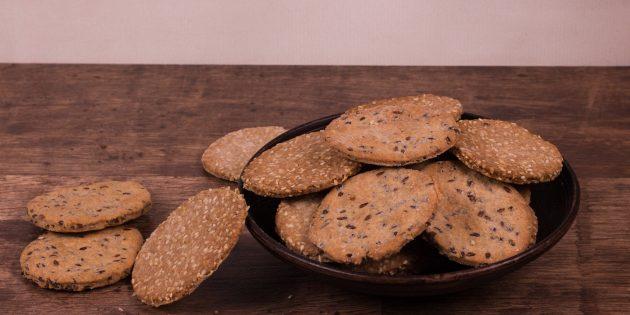 Пшенично-ржаные хлебцы с семенами льна