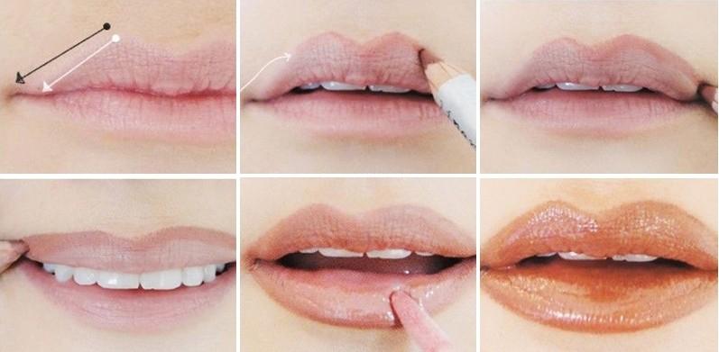 Как сделать так что бы губы были белыми 598