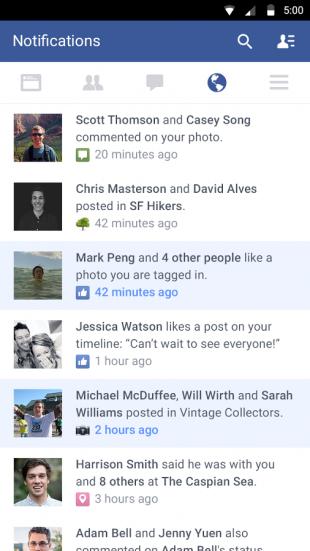Android-приложение Facebook