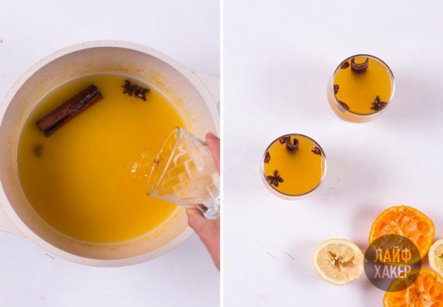 Лимонад из мандаринов: добавляем мёд и алкоголь