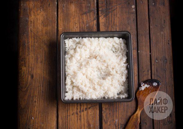 Приготовьте рис для суширрито