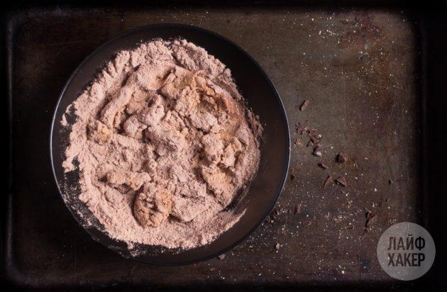 Протеиновые конфеты: добавьте арахисовое масло и смешайте все компоненты