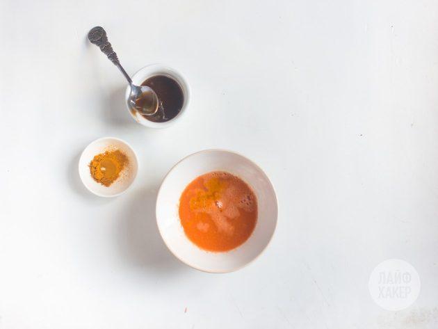 Добавьте в противопростудный витаминный напиток подсластитель и куркуму
