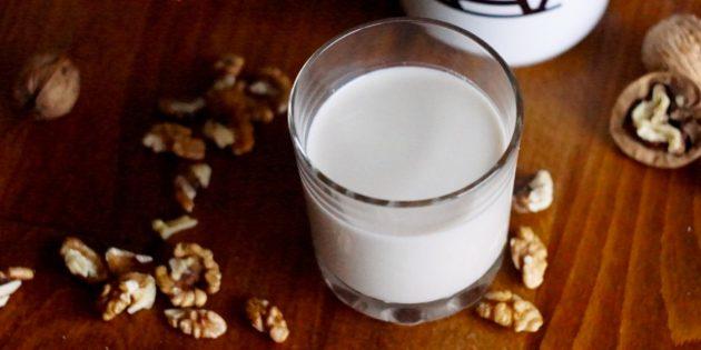 РЕЦЕПТЫ: Молоко из грецких орехов