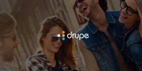 C Drupe для Android популярные контакты и любимые средства общения всегда под рукой