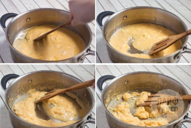 Идеальная яичница-скрэмбл: снимите посуду с огня и начинайте перемешивать яичницу по кругу