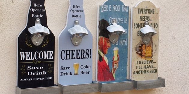 Настенная открывалка для пива