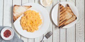 Идеи для завтрака: идеальная яичница-скрэмбл