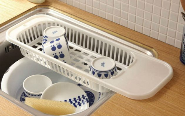 Kitchen-Sink-Drain-Rack-cutlery-shelving-treatment-of-fruits-and-vegetables-New-Compact-Dish-Rack-Set