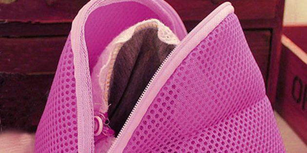 100крутых вещей дешевле 100рублей: мешок для стирки: мешок для стирки бюстгальтеров