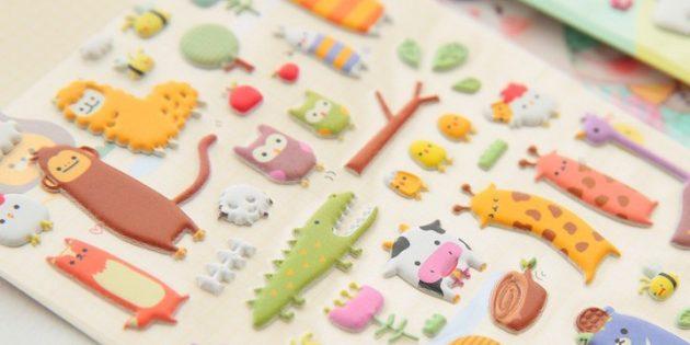 100крутых вещей дешевле 100рублей: объёмные наклейки для DIY