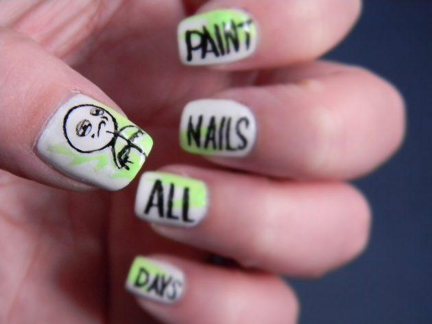 Как самой сделать дизайн ногтей видео