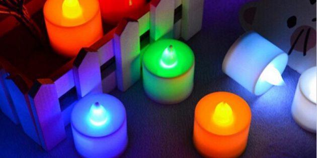 100крутых вещей дешевле 100рублей: светодиодная свеча