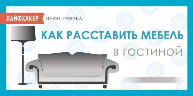 ИНФОГРАФИКА: Как расставить мебель в гостиной