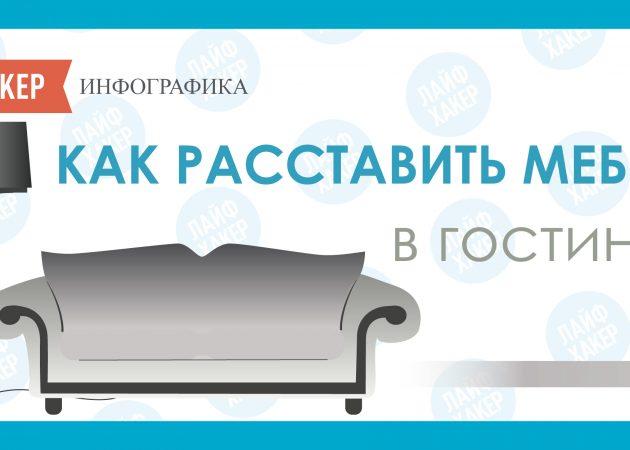 ИНФОГРАФИКА: Как сделать идеальную гостиную, переставив мебель