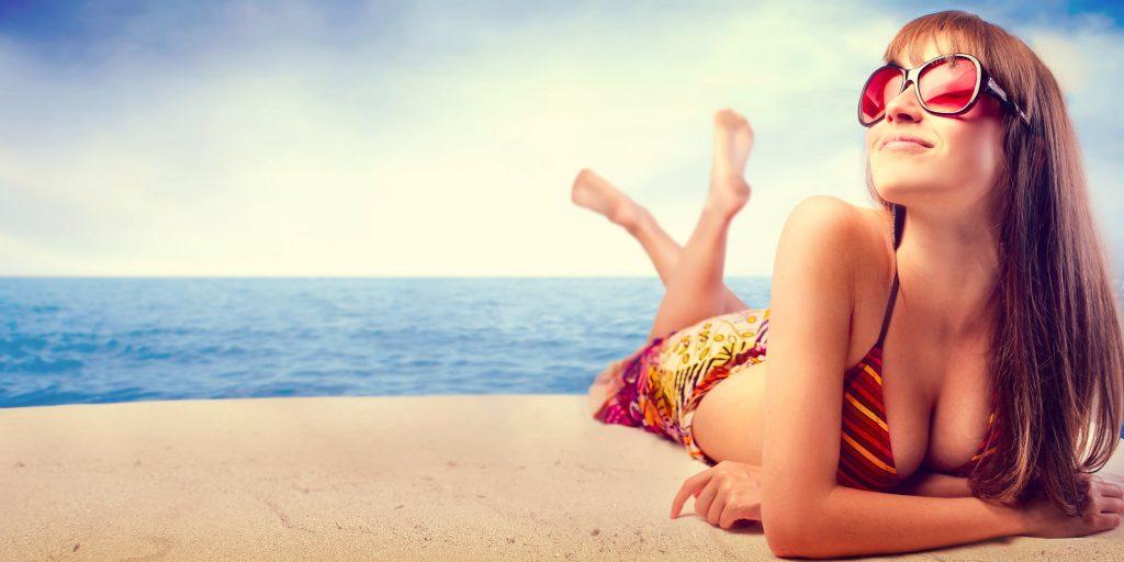 Лето девушки пляж