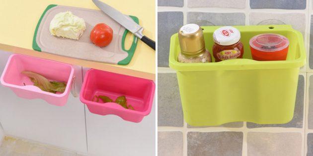 аксессуары для кухни: навесной контейнер