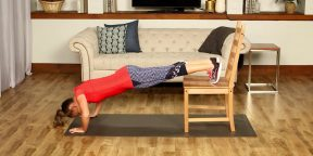 10 упражнений для всего тела, которые можно выполнять со стулом