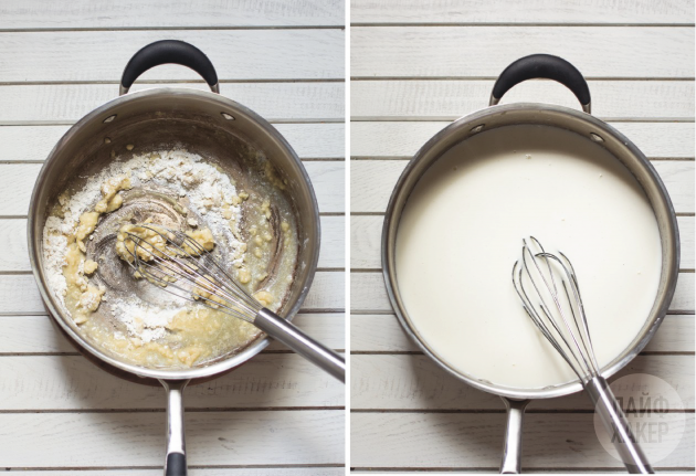 Макароны с сырным соусом в одной посуде: приготовьте соус бешамемь