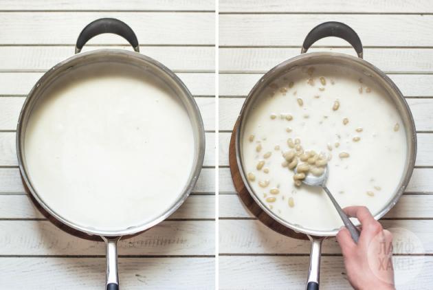 Макароны с сырным соусом в одной посуде: добавьте в соус макароны