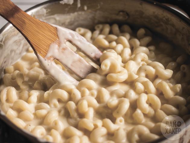 макароны в сырном соусе рецепт с фото