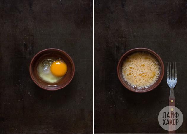 Шоколадный фондан: взбейте сахар с яйцом