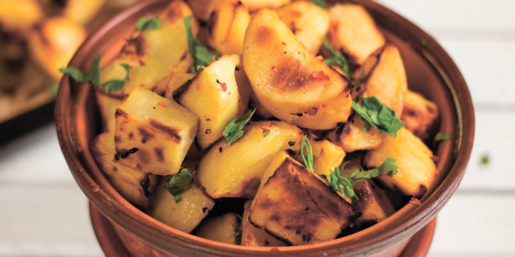 РЕЦЕПТЫ: Запечённый картофель с горчично-лимонной корочкой