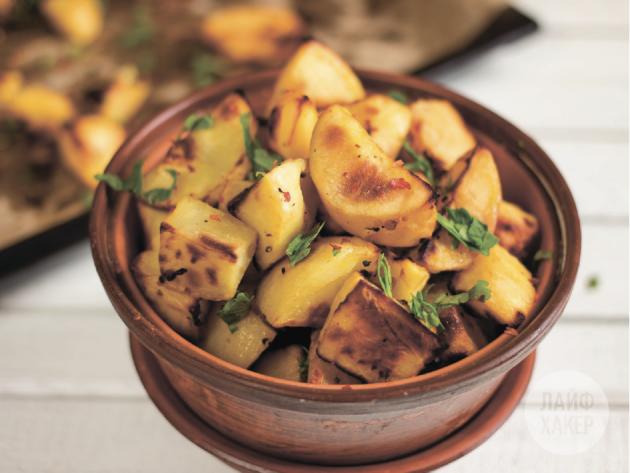 Запечённый картофель с горчично-медовой корочкой