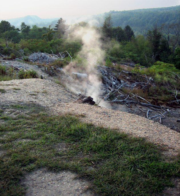 Сентрейлия: обвал почвы