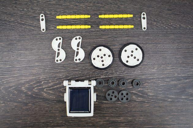 Детский конструктор Solar 14-in-1: детали роботов