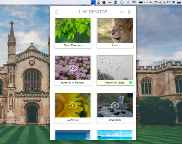Live Desktop — анимированные обои для Mac