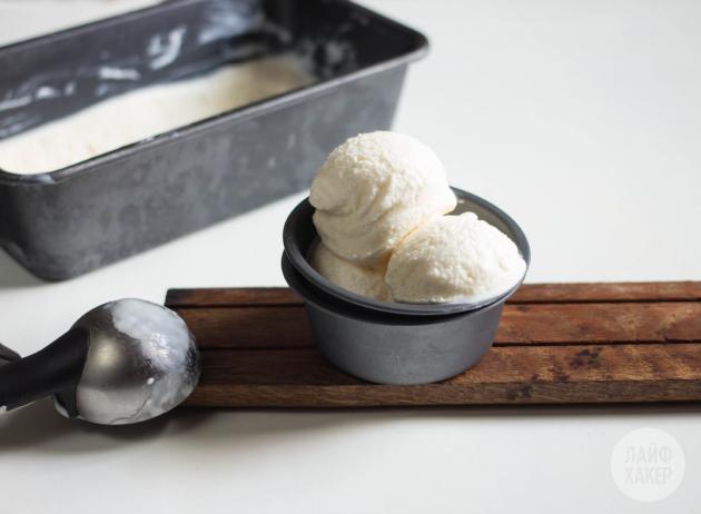 Достаньте йогуртовое мороженое из морозилки через 6 часов
