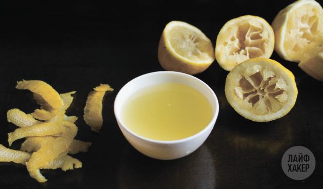 Кофейный лимонад: подготовьте лимонный сок