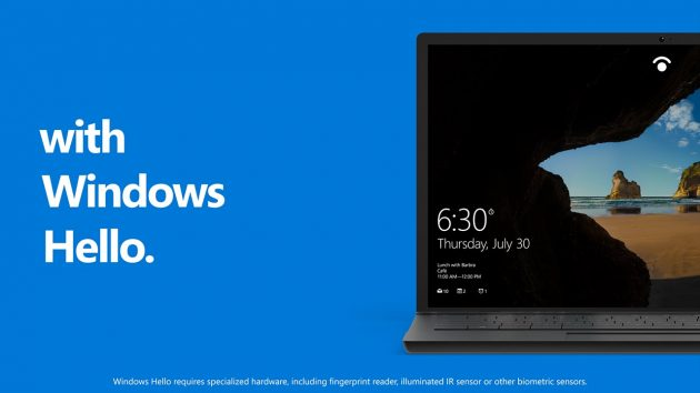 Windows Hello Windows 10 Anniversary Update