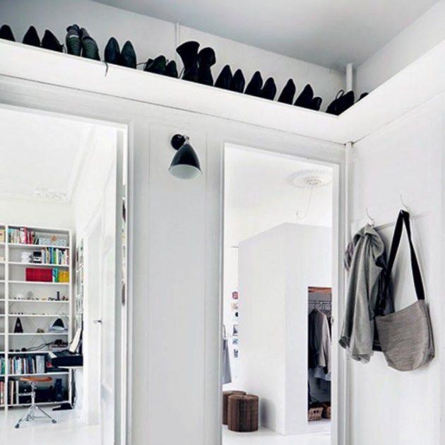 Дизайн маленькой квартиры: шкафы под потолком