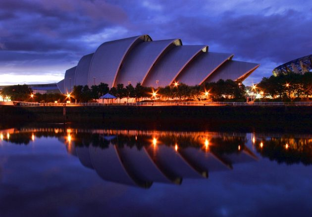 архитектура Европы: The Armadillo in Glasgow