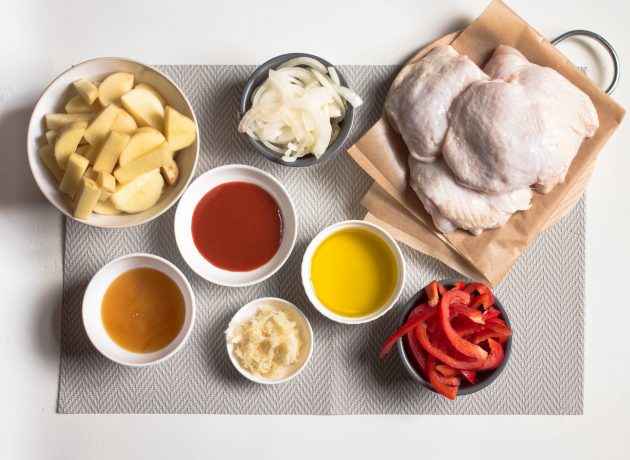 курица с овощами: ингредиенты