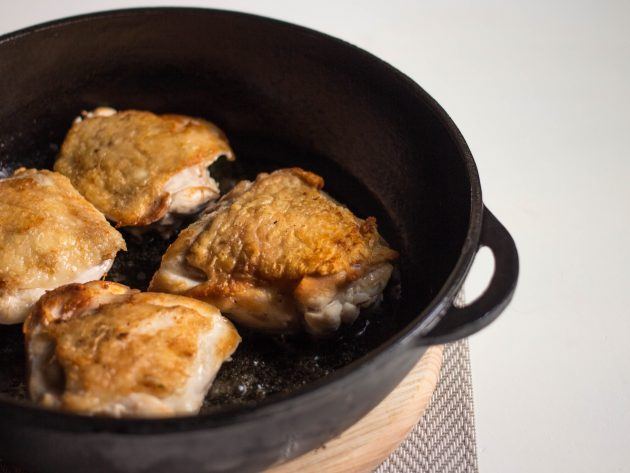 курица с овощами: бёдра