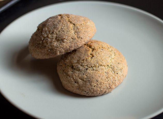 Готовое печенье с чайными листьями