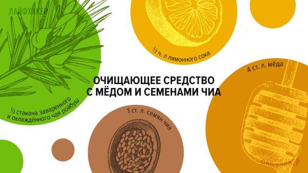 косметические средства: средство с медом и семенами чиа