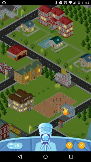 умный стакан: игра CityFire