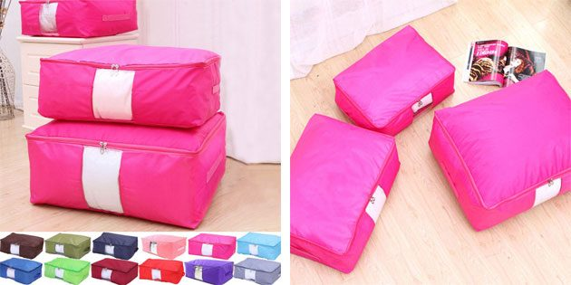 Чехлы для хранения подушек и одеял