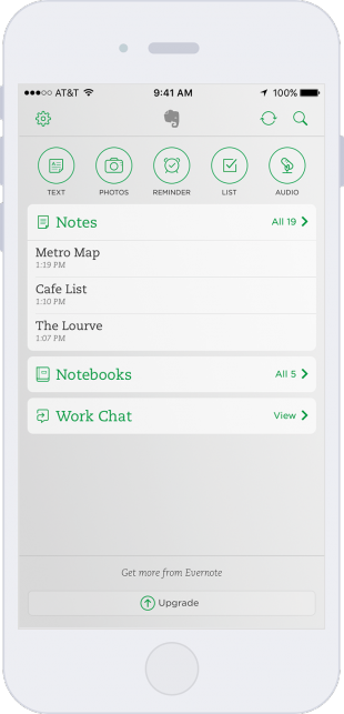 Evernote home