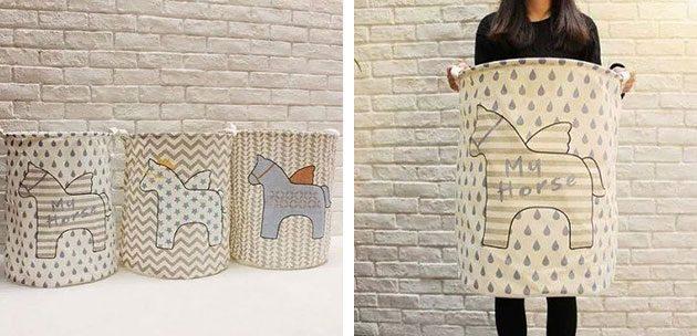 Вместительные текстильные коробки