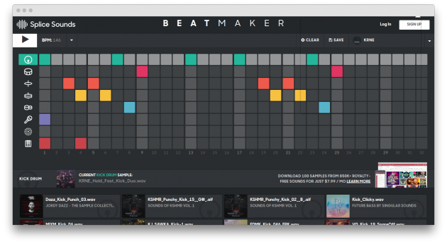 Beatmaker: main window
