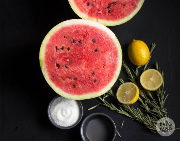 Арбузный лимонад: ингредиенты