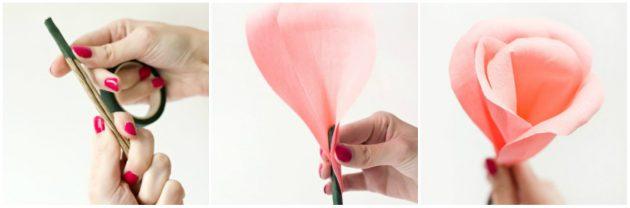 Как сделать из бумаги розу: сборка цветка