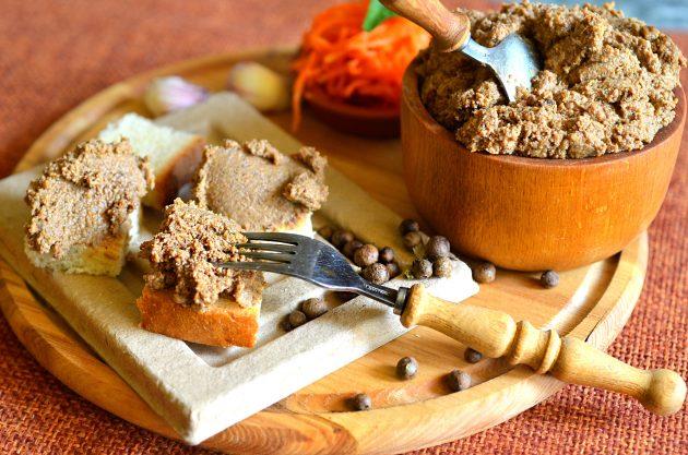 здоровый завтрак: печёночный паштет