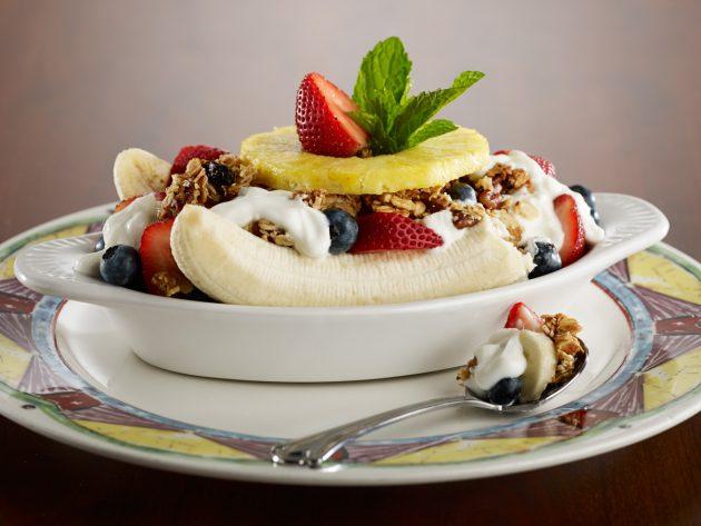здоровый завтрак: банановый десерт